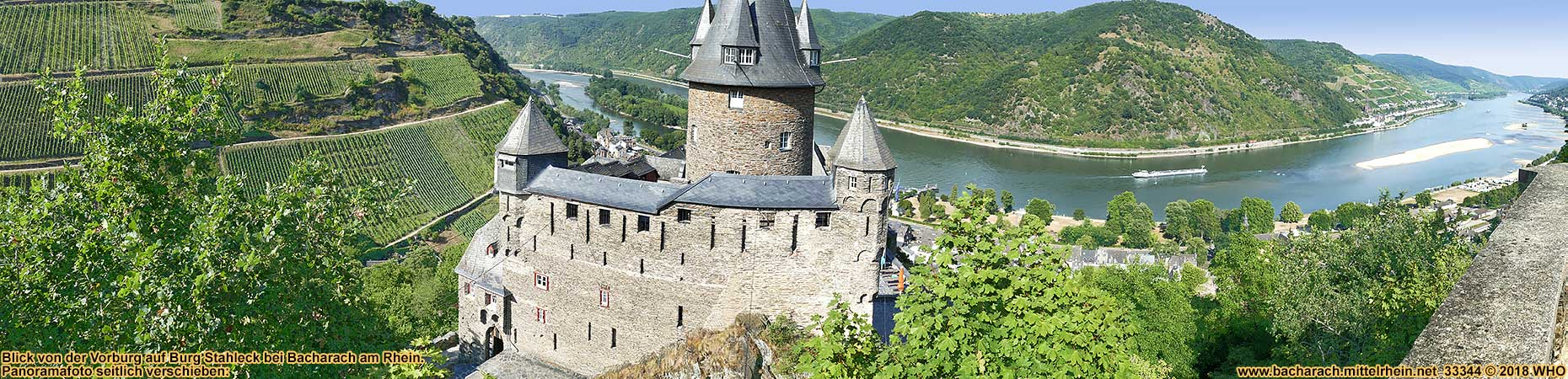 Castle Stahleck above Bacharach on the Rhine River